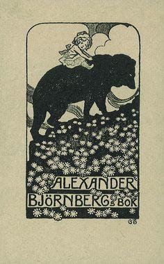 [Ex libris Alexander Björnberg] by Stifts- och landsbiblioteket i Skara, via Flickr
