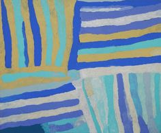 Great Sandy Desert - Piyurr by Biddee Baadjo, cm Aboriginal Painting, Aboriginal Artists, Earth Tones, Colours, Gallery, Blue, Collection, Roof Rack