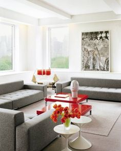 Modern Living Room by Shelton, Mindel & Associates and Shelton, Mindel & Associates in New York, New York