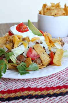 Southwest Frito Pie:  your family will love you for serving this for dinner.  Easy, family-friendly, quick meal. #recipe