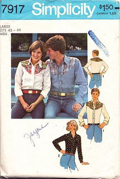 Simplicity 7917 Men's Shirt with Yolk Interest Sewing Pattern Size Large (42-44) Vintage 1977 Simplicity,http://www.amazon.com/dp/B00C7PSO1I/ref=cm_sw_r_pi_dp_PwaAtb1H7PRXM5N7