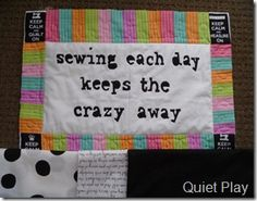 mini quilt - maybe for my buddy Quilting Quotes, Quilting Tips, Quilting Designs, Quilting Projects, Machine Quilting, Sewing Hacks, Sewing Crafts, Sewing Projects, Sewing Humor