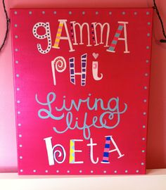 Gamma Phi Beta Canvas