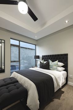 The development in which this unit is located is all about pushing conventional boundaries. Teen Boy Rooms, Wedding Bedroom, Bedding Inspiration, Black Bedroom Furniture, Modern Master Bedroom, House Rooms, Little Houses, Interior Design, Decoration