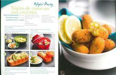 Tapas - Nigiris de couscous aux crevettes - Tupperware
