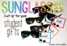 Last year I shared the end-of-the-year gifts that I made for my students. This year my gifts look just a tad bit different… same basic idea, just slightly different items! First, I was in love with the sunglasses I found last year in the Target dollar section. Theyare cute, colorful, and pretty good quality (for …