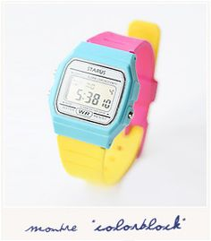 colorblock watch