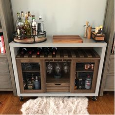 Want To Know More About New Paint In Our Kitchen (Finally 11 - bucurieacasa Home Bar Decor, Kitchen Decor, Wine And Liquor Cabinets, Bookshelf Bar, Shelves, Wine And Coffee Bar, Small Bars For Home, Home Bar Areas, Living Room Bar
