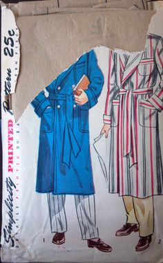 Simplicity 2172 Pattern for man's robe by VictorianWardrobe, $10.00