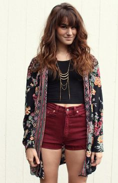 High waist shorts and cropped tops!