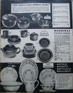 Kaikkea kaunista menneiltä ajoilta. Retro Ads, Retro Vintage, Tom Of Finland, Glass Design, Scandinavian Design, Mid-century Modern, Nostalgia, Childhood, Mid Century