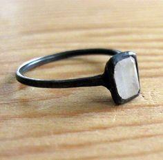 Moonstone Ring in Bezel Set in Oxidized Silver Hanging Jewelry, Glass Jewelry, Photo Jewelry, Gold Jewelry, Jewelery, Vintage Jewelry, Women Jewelry, Fashion Bracelets, Fashion Necklace