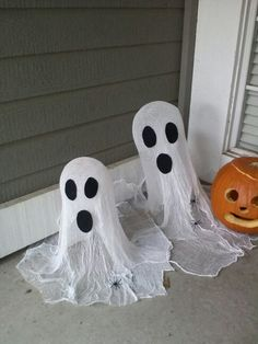 Cheese cloth ghosts.