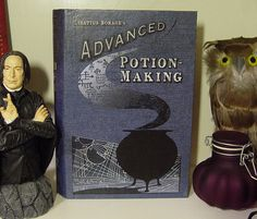 Severus Snape will give you detention if you forget your book in potions!    This is a paper mache book is covered with a high resolution Advanced
