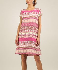 Pink Boho Shift Dress