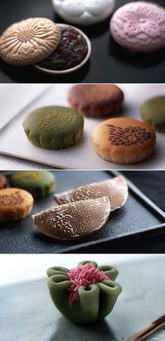 Wagashi from Toraya. Wagashi are traditional Japanese confections that evolved into an art form in the ancient Imperial capital, Kyoto. The character pronounced 'wa' denotes things Japanese, while the characters for 'gashi', an alliteration of kashi, have come to mean confections. Wagashi represent the essence of Japanese culture, and continue to be vital force in Japanese life.