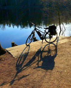 Instagram picutre by @kirsikzz: My new e-bike cycle to work #bike #electrobike #ebike #electric #goout #gooutside #morning #morning #beautifulmorning #cykling #ig_bikes #ig_bike#cycletowork#helkama #shimano #shimanosystem - Shop E-Bikes at ElectricBikeCity.com (Use coupon PINTEREST for 10% off!)