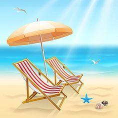 Cool summer beach vector background