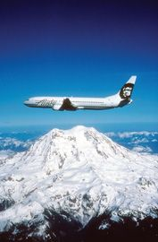 Alaska Airlines Plane in Flight (Courtesy of the Airline): Secrects of the World`s best Airlines - what makes them special? by independenttraveler