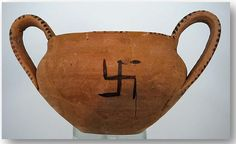 photo: Ancient Swastika on a Minoan pottery piece from Crete.    The Ancient Secret Of The Swastika & The Hidden History Of The White Race (Pt. 1 of 2)