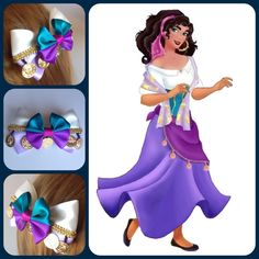 Handmade Hair Bow. Disney's The Hunchback of by HairBowObsessions