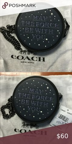 NWT Coach Star Wars Key Chain Coin Holder This round coin holder is so cute. It has an attached pewter colored chain Coach Accessories Key & Card Holders Pewter Color, Coin Purse Wallet, Key Card Holder, Key Chain, Wristlets, Coach Bags, Clutches, Coins, Star Wars