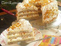 Tort-Egiptean-4-1 Romanian Desserts, Vanilla Cake, Tiramisu, Sweet Tooth, French Toast, Dessert Recipes, Breakfast, Ethnic Recipes, Food