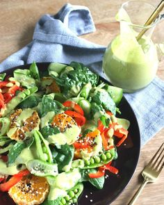 Kirsten from here and I eat ALOT of salads in the summer so I like to switch up my dressings. This zesty green dressing can be used on pretty much anything! It's super tasty and I know a lot of you already got your hands on it (it's on Marinated Chicken, Roasted Chicken, Green Salad Dressing, Best Weight Loss Foods, Snap Peas, Whole 30 Recipes, Paleo Recipes, Green Beans, Meal Planning