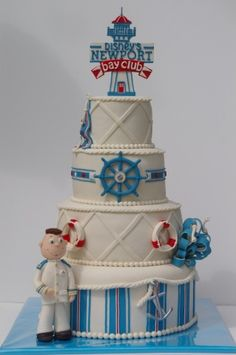 Disney's Hotel Newport Bay Club. Put a spin on this cake and personalize it for the little one.