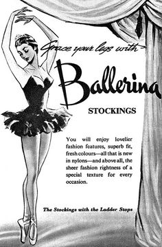 All sizes | Ballerina Stockings advertisement. | Flickr - Photo Sharing!