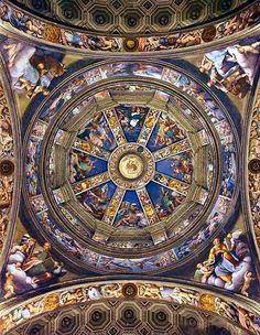 Category:Paintings by Il Pordenone Church Architecture, Historical Architecture, Fresco, Renaissance, Santa Maria, Michelangelo, Vaulting, Land Scape, Madonna