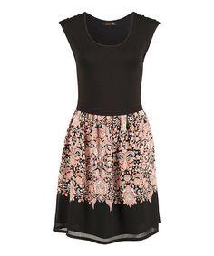 Another great find on #zulily! Black New Boho A-Line Dress #zulilyfinds