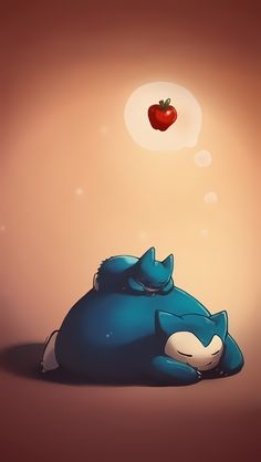 Snorlax and munchlax - Cute Pokemon iPhone Wallpapers @mobile9
