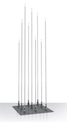 Floor standing lamp / contemporary / stainless steel / methacrylate - TYPHA by Susana Jelen-Eduardo Leira - iGuzzini