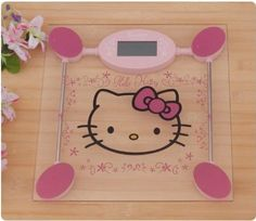 Hello Kitty Digital Bathroom Scale Hello Kitty digital bathroom scale with stainless toughened glass. Hello Kitty Bathroom, Hello Kitty House, Hello Kitty Items, Here Kitty Kitty, Sentimental Circus, Hello Kitty Collection, Hello Kitty Wallpaper, Gadgets, Everything Pink