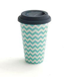 J.Crew ceramic travel coffee cup.