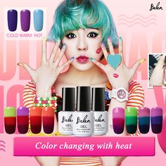 Belen Thermal Color Changing Nail Gel Polish Soak Off UV LED Gel Lacquer Polish Chameleon LED UV Gel Lak Gel Varnish Gelpolish