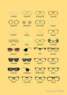 Glasses Print by Stephen Wildish Four Eyes, Buy Glasses, Friday Humor, Optician, Store Design, Mcdonalds, Prints, Funny, Specs