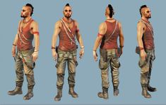 Bruno Gauthier Leblanc's concept art of Vaas from the popular game Far Cry. It seems to me that this is the final piece of concept art that was made just before or after Ubisoft decided on the final character design.