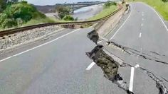 Bill ✔️. Part of State Highway One, and the Main Trunk Rail Line, near Kaikoura, New Zealand after being struck by a M7.8 Earthquake on 14 November 2016.    Bill Gibson-Patmore.  (curation & caption: @BillGP). Bill✔️