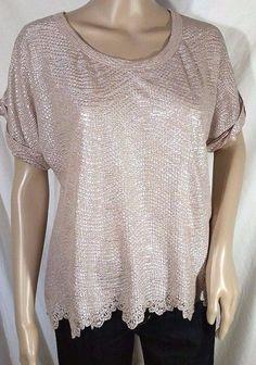 NWT Miss Me Sheer Back Shimmer Top 2 Colors Size S, M  #MissMe #Blouse