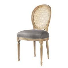 Stuhl taupe Leinen - Louis
