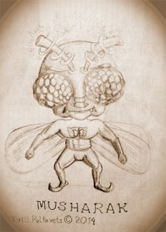 This guy isn't related to any politics! :) In Russian it's related to it's insect's name very closely. #retro, #fly, #muha, #character, #design, #hero, #superhero, #insect