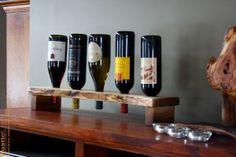 tall unique wood wine rack
