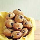 Blueberry Muffins recipe - Canadian Living -- Half the butter and sugar, bake for 35 mins