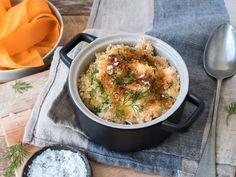 Hjemmelaget fiskegrateng med makaroni Cod Recipes, Cooking Recipes, Frisk, Fish And Seafood, Curry, Food And Drink, Dinner, Ethnic Recipes, November