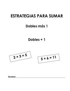 Estrategia sumar dobles más 1