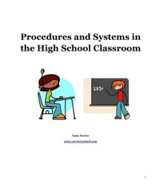 High School class practices/procedures... some of this is a little too rigid but there are good ideas here.