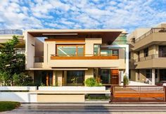 19 Best Boundary Wall Images Modern House Design Modern Houses