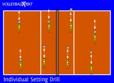 This is a individual volleyball setting drill that focuses on setting ball control and overhead passes. This setting drill can be performed at home or during training. Volleyball Passing Drills, Volleyball Warm Ups, Volleyball Drills For Beginners, Volleyball Set, Volleyball Practice, Volleyball Training, Volleyball Workouts, Volleyball Quotes, Coaching Volleyball